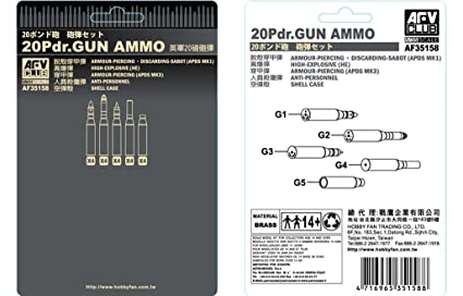 Amazon com: British 20-Pounder Gun Ammo 1-35 AFV Club: Toys