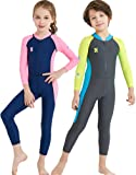 YIFEIKU Co.,Ltd. Kids One Piece Swimsuit Long Sleeves Long Trousers Full Sun Protection Fast Drying UPF 50+ Body Protection - Surfing Diving Sailing - Boys Girls