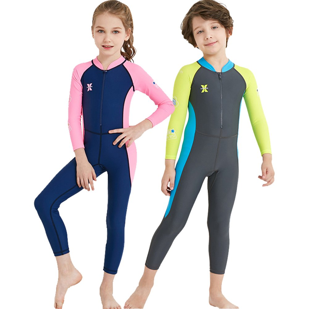 YIFEIKU Co., Ltd. Kids One Piece Swimsuit Long Sleeves Long Trousers Full Sun Protection Fast Drying UPF 50+ Body Protection - Surfing Diving Sailing - Boys Girls