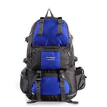 Táctica Mochila Mochila 50L bolsa de poliéster resistente al agua de la mochila para montañismo Camping senderismo viajes, azul: Amazon.es: Deportes y aire ...