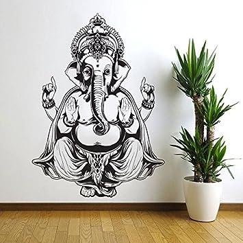 Vinyl Wall Decal Sticker Art Decor Bedroom Ganesh Elephant GOD OM Yoga  Buddha Mandala Ganapati Wall Part 61