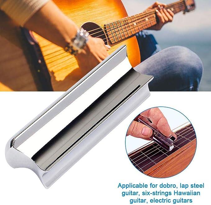 Jiayouy Stainless Steel Guitar Slide Dobro Hawaii Guitar Electric ...