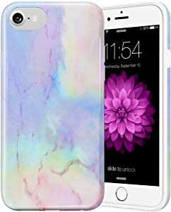 Caka Marble Case for iPhone SE 2020, iPhone 6 6S 7 8 Marble Case for Girls Women Slim Flexible Luxury Fashion Shockproof Phone Case for iPhone 6 6S 7 8 SE 2020 4.7 inch (Opal)