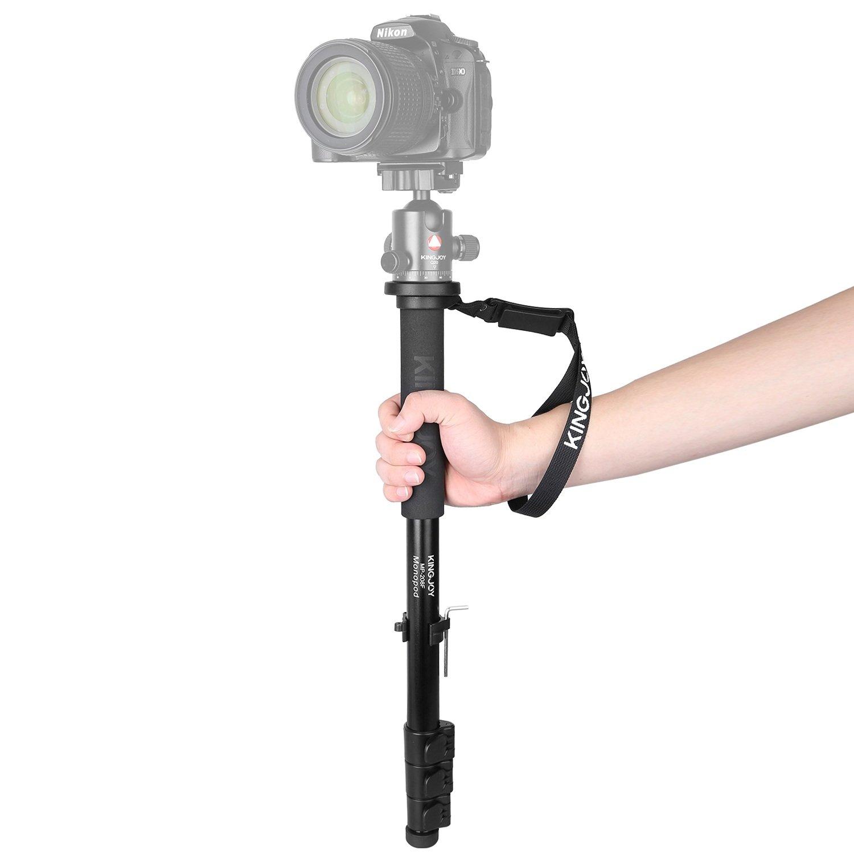 Papaler MP208F Camera Monopod Alpenstock, 52''/133cm Aluminum Flip Lock Video Monopod for Camera with 1/4''&3/8'' Convertible Screw for DSLR Cameras Camcorder Ballhead Canon Nikon Sony Max Load 17.6 lbs
