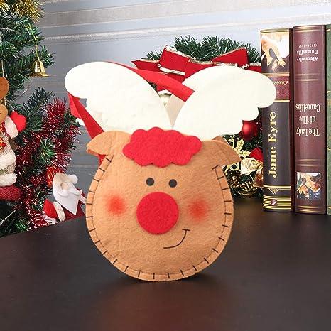 OUNONA - 3 Bolsas de Navidad para Caramelos, diseño de ...