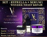 V2 REVOLUTION SET 3 ESTRELLA PREMIUM GOLD NIGHT CREAM SERUM BLACK PEARL WHITE[Get Free Tomato Facial Mask]