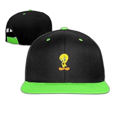 Amazon.com  Baby Kids Looney Tunes Tweety Bird Hip Hop Hats Baseball ... 1e74df99cffb