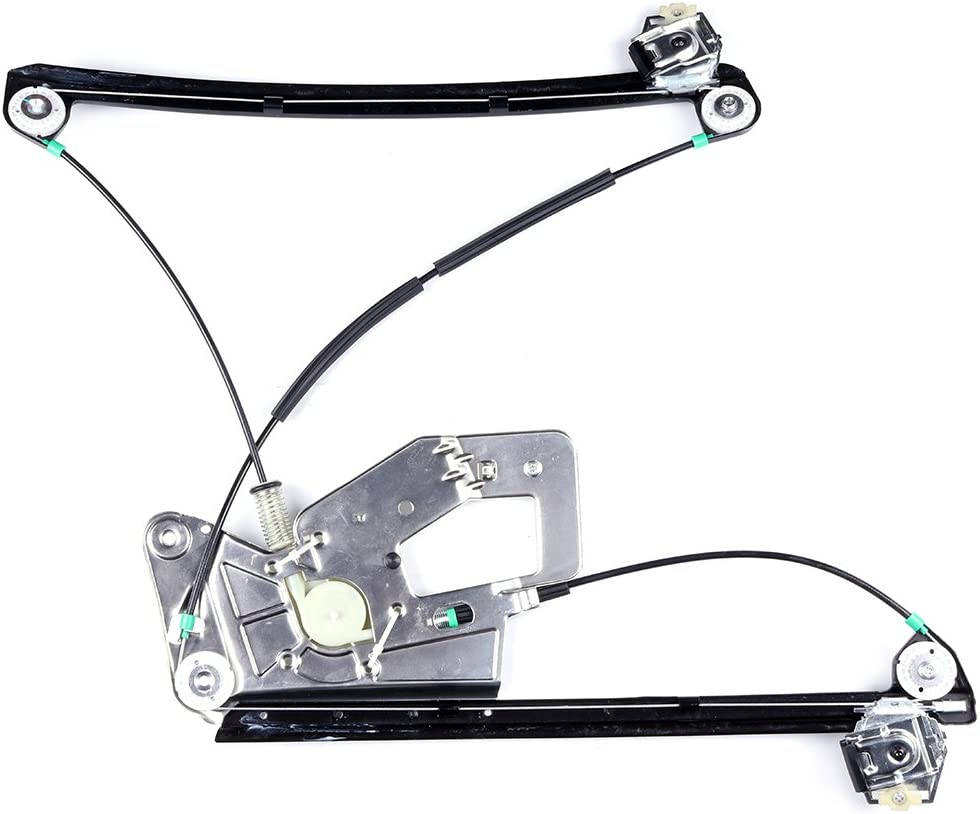 Power Window Regulator Front Right Passenger Side without Motor fits for 2003-01 BMW 525i 530i 2000-97 528i 2003-97 540i 2003-00 M5 51338252394 740-479