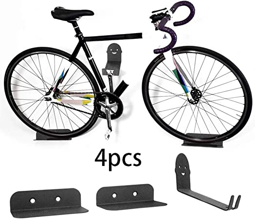 Qwed Gancho Bicicleta Pared,Colgar Bici Pared,Estante de Almacenamiento,manivela de Bicicleta,Gancho de Pedal,Soporte de Bicicleta de montaña,Estante de Accesorios para Estante de Bicicleta Colgante: Amazon.es: Hogar