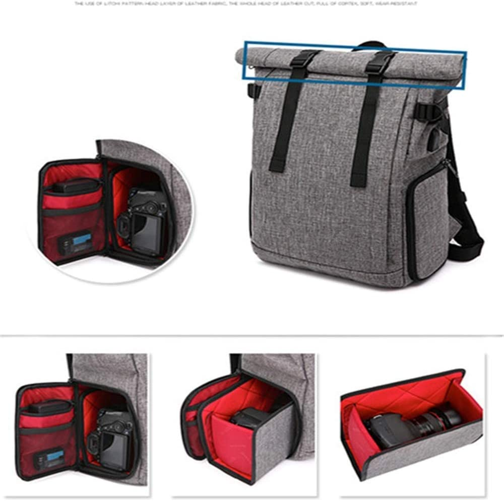 LIXBB Outdoor Product//Fashion Bag Camera Bag Waterproof Shoulder Travel Photography Bag Casual SLR Camera Bag Camera Backpack