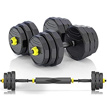 dumbbell Men Set Fitness casa Desmontable Barra de Entrenamiento Brazo Equipo Muscular Conjunto (Color : Black, Size : 10kg(5kg*2)): Amazon.es: Deportes y ...