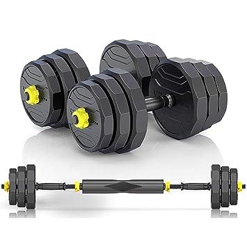 dumbbell Men Set Fitness casa Desmontable Barra de Entrenamiento Brazo Equipo Muscular Conjunto (Color : Black, Size : 10kg(5kg*2)): Amazon.es: Deportes y ...