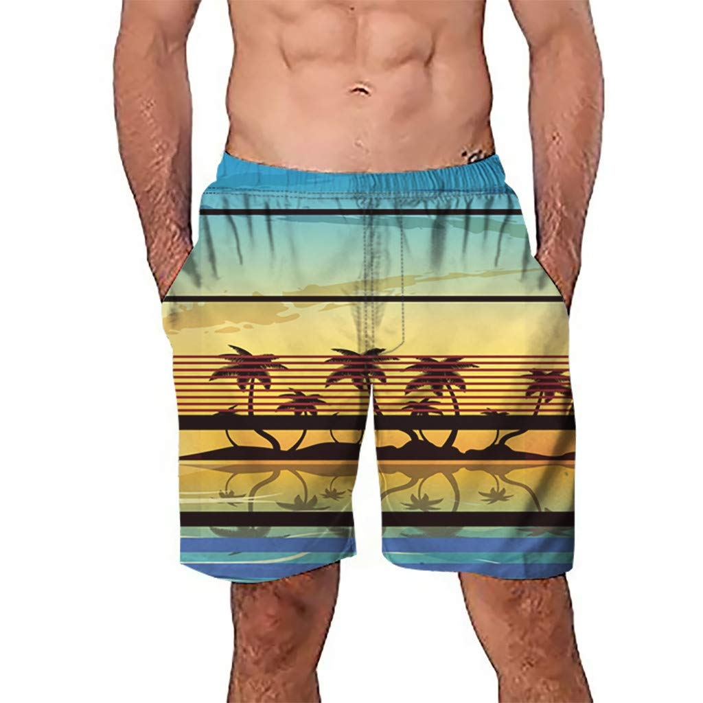 NUWFOR Men Casual 3D Graffiti Printed Beach Work Casual Men Short Trouser Shorts Pants(Multi Color,US:S Waist26.0-29.9'') by NUWFOR (Image #1)