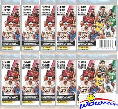 NFL 2019 Sticker Collection Choose Quantity 10 25 50 packets or Box
