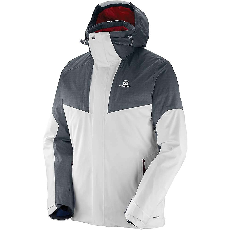 サロモン アウター ジャケットブルゾン Salomon Men's Icerocket Mix Jacket White / Qu 1kb [並行輸入品] B076CRY484  Small
