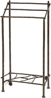 product image for Stone Country Ironworks Pine Towel Stand-Hand Rubbed Pewter
