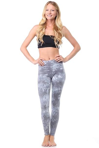 478914c4f78a61 LVR Tie Dye Basic Legging Womens Active Organic Yoga Leggings at Amazon Women's  Clothing store: