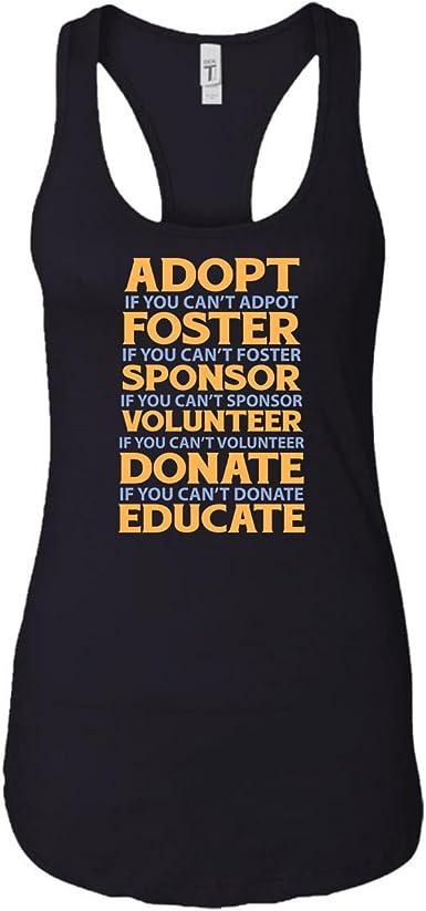 Women/'s Cat Rescue Tank Top Save Pet Adoption Shirt Animal Adopt Cats Racerback Tank