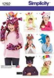 Simplicity US1292A Child's Animal Hat and Matching