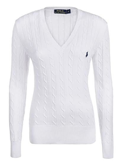 Ralph Lauren Women s Jumper White Weiß - White - X-Large  Amazon.co ... 0efa84f59085