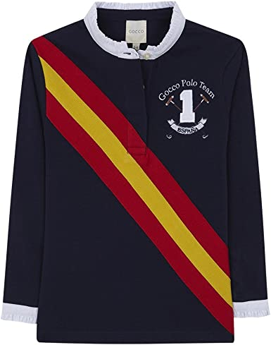 Gocco Polo Bandera España, Azul (Marino A4), 3-4 años para Niñas: Amazon.es: Ropa y accesorios