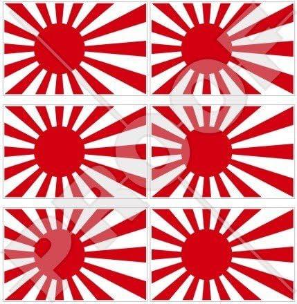 Japan Japanische Rising Sun Flagge 40 Mm 40 6 Cm Mobile Handy Vinyl Mini Sticker Aufkleber X6 Garten