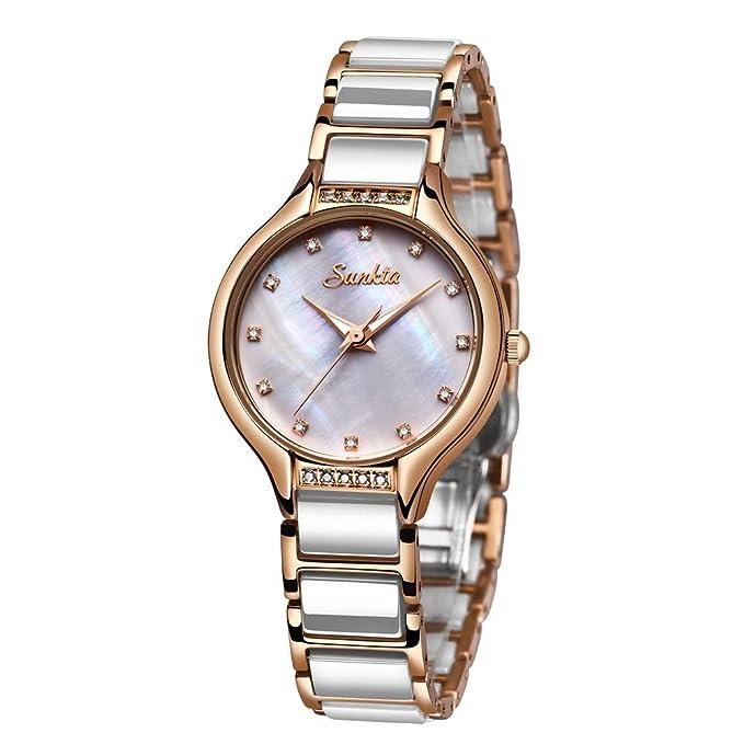 size 40 53997 1ad7c Amazon | レディース 腕時計 SUNKTA ステンレス アナログ ...