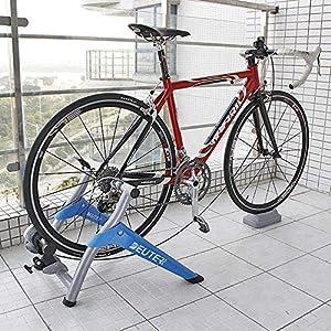 61YkfH LRPL. SS300 SZYM Rulli Bicicletta per Allenamento da Interno, Piattaforma da Guida per Mountain Bike da Strada rulli Bici, Dispositivo di Allenamento a Resistenza Magnetica controllata da Filo, Cyclette