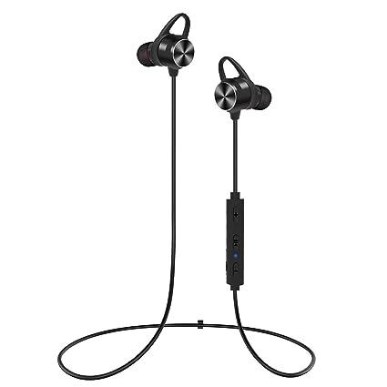 Auriculares Bluetooth, KOOHO E2 Bluetooth4.1 Magnéticos In-ear Cascos Deportivos Inalámbricos con