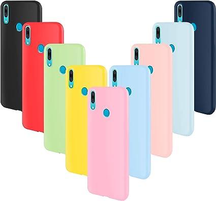 ivencase 9 × Custodia Huawei P Smart Z Cover Silicone Sottile Morbido TPU Protettivo Cover Huawei P Smart Z Rosa, Rosa Chiaro, Grigio, Azzurro, ...