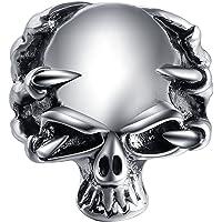 指輪 メンズ 悪魔 スカル リング 鋭い 爪 顎 髑髏 人気 アクセサリー (エバベア) EVBEA