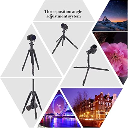 AkoMatial Portable Foldable 360 Rotary Travel Tripod Ball Pan Head Camera Stand Accessories for DSLR Camera Orange