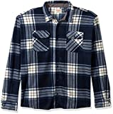Wrangler Authentics Men's Long Sleeve Plaid Fleece Shirt, Total Eclipse Plaid, 3XL: more info