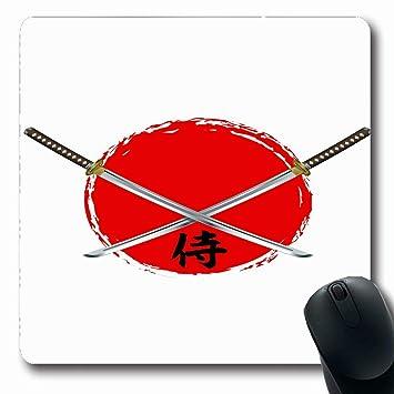 Luancrop Alfombrillas para computadoras Katana Samurai ...