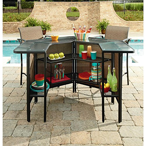 Outdoor Patio Furniture Bar Height Table And Chairs Set 5