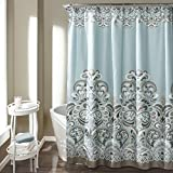 """Lush Decor 16T000210 Clara Shower Curtain, 72"""" x 72"""", Blue"""