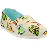 Toms Coral Pink Cuban Fruits Women's Classics Casual Slip-On