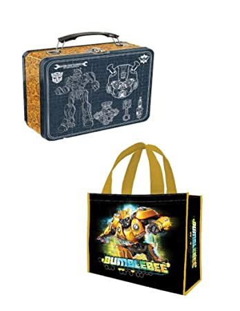 7ee260a99f32 Amazon.com: Vandor Transformers Bumblebee Lunch Box and Large ...