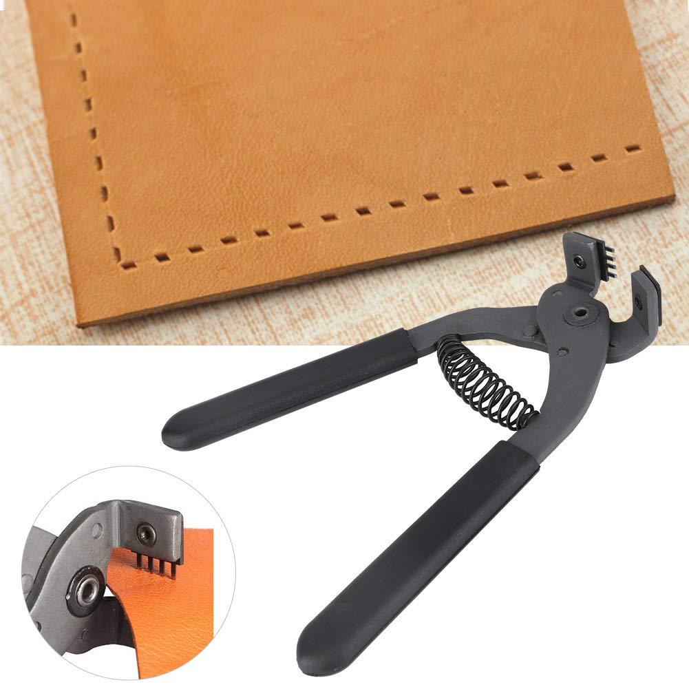4mm-4 teeth alicates silenciosos de acero al carbono de mano de 17 cm Herramienta de perforaci/ón de agujeros artesanales de cuero de 4 mm para el hogar Herramienta de mano artesanal de cuero