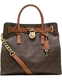 Michael Kors Women's Hamilton North South Leather Top-Handle Tote