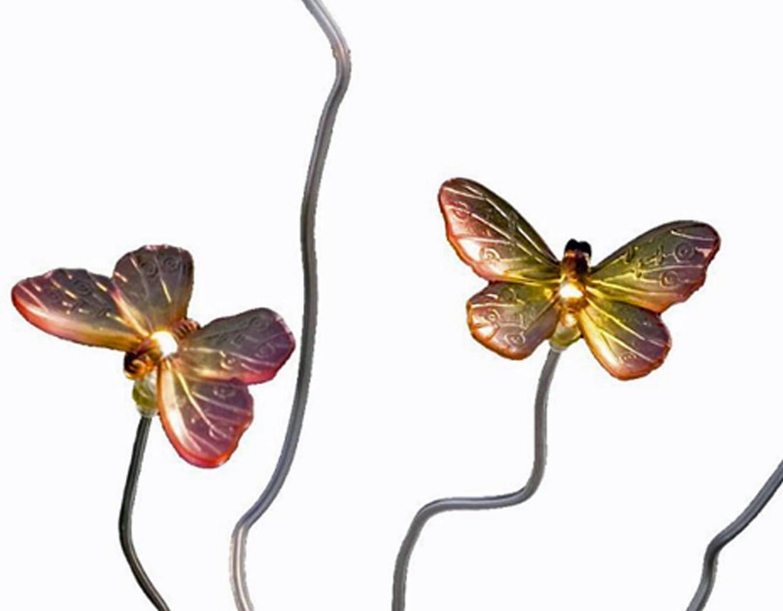 Solar LED Schmetterlinge Außenleuchte Konstsmide 7628-000 Assisi Deko Steinoptik
