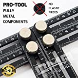 Tools & Hardware : ANY-ANGLE Multi-Angle Measuring Ruler: FULL-METAL Angle-izer Template Tool Made Of Premium Aluminum Alloy – Perfect For Handymen, Builders, Craftsmen, Carpenters, Roofers, Tilers, DIY-ers & GREAT GIFT