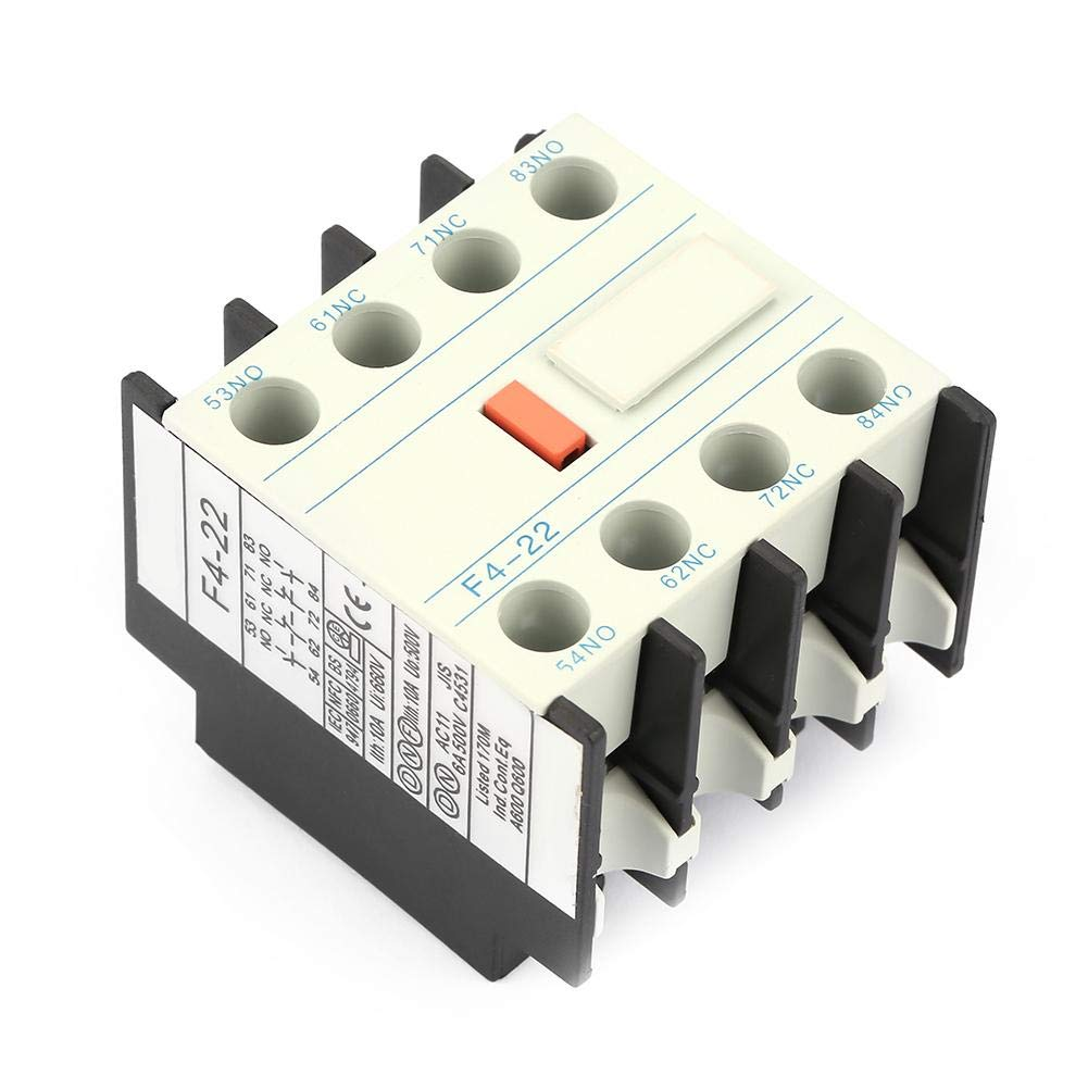 LADN22 Contactor de CA Bloque de conmutaci/ón auxiliar Schakelaar F4-22 2 Bloqueo de contacto auxiliar NO//NC Se adapta al contactor de CA CJX2