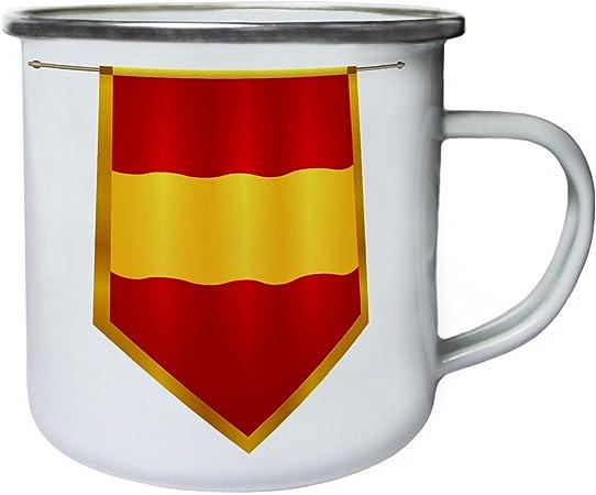 España bandera viaje el mundo Retro, lata, taza del esmalte 10oz/280ml g471e: Amazon.es: Hogar