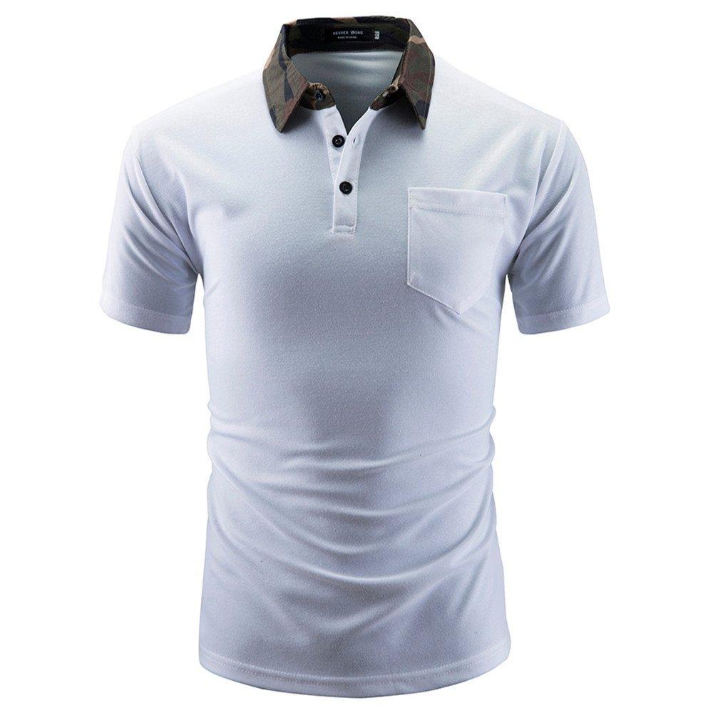ASHOP - Camisetas Hombre - Summer T-Shirt - Sólido Top de Manga ...