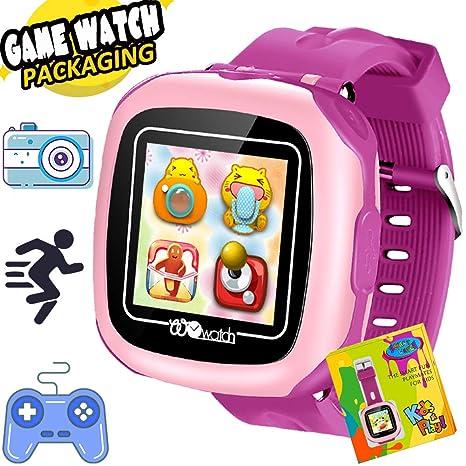 """AMENON Reloj Inteligente para Niños 1.5"""" Pantalla Táctil con Cámara 10 Juegos Podómetro Despertador Cronómetro"""