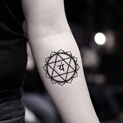 Tatuaje Temporal de Chakra del corazón (2 Piezas) - www.ohmytat ...