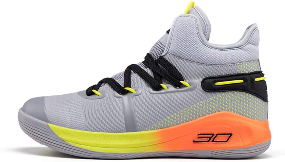 YPPDSD Zapatillas de Baloncesto Hombre Four Seasons High para Ayudar a Usar Botas de Baloncesto Antideslizantes Botas de Deporte para Estudiantes,Naranja,38: Amazon.es: Hogar
