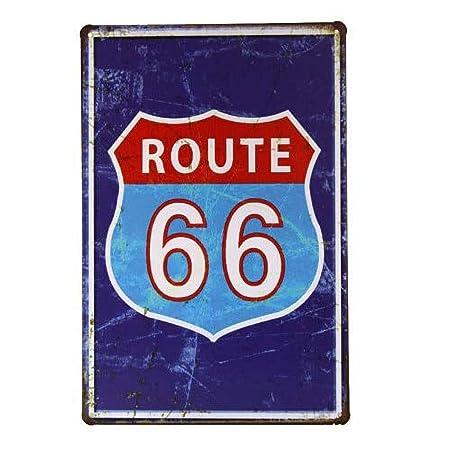 Kia Haop Route 66 Home Metal Fender Cartel De Chapa Placa ...