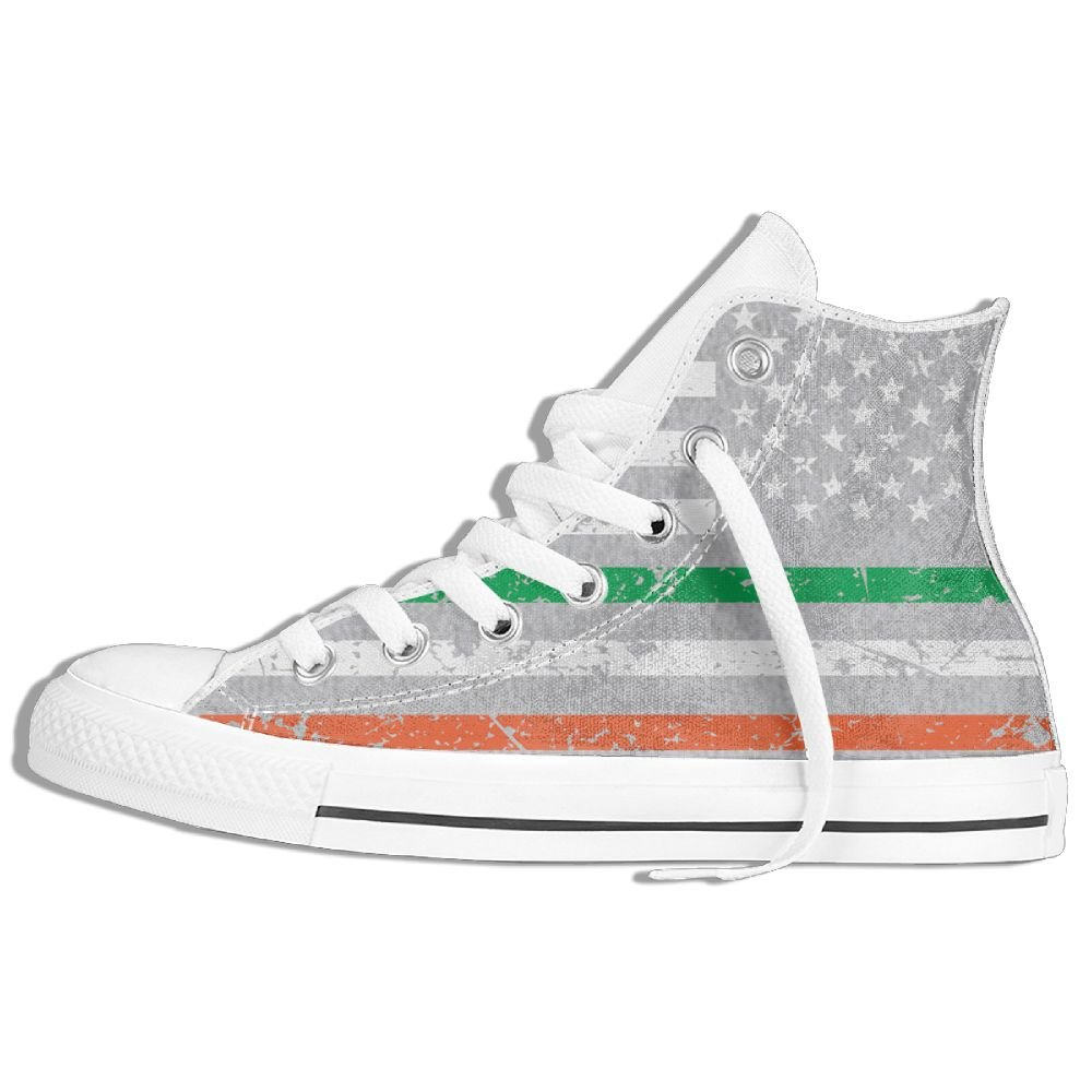 13323e2e916f6 Amazon.com: American Flag Irish Unisex High Top Classic Casual ...